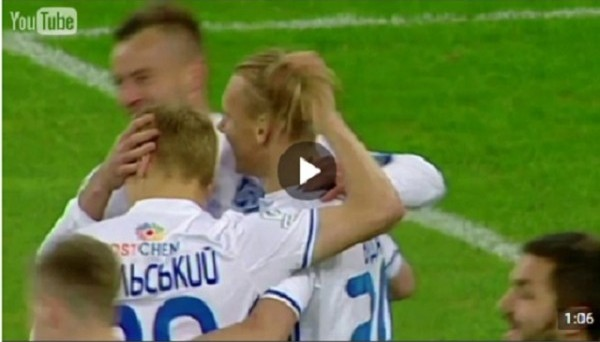 Красивейший гол Ярмоленко пяткой в ворота Черноморца