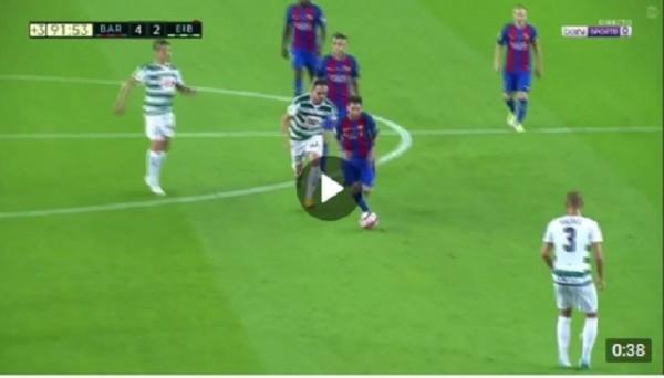 Проход Месси с центра поля и гол в ворота Эйбара