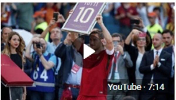 Франческо Тотти официально попрощался с футболом