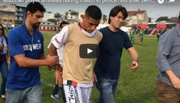 Бразильского футболиста арестовали прямо во время матча