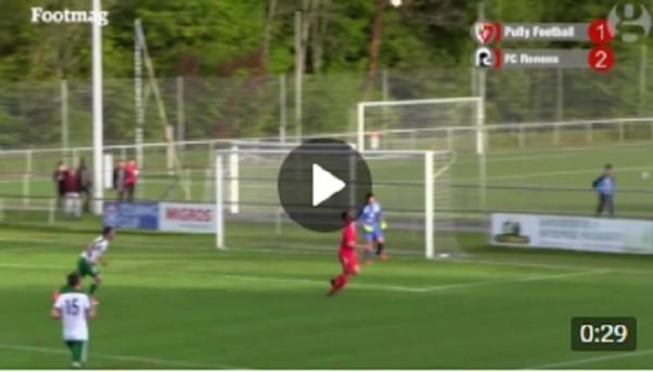 Фантастическим автоголом отличился швейцарский игрок клуба Пулли Футбол Адриен Гульфо